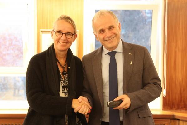 L'Ambassadrice Hélène Le Gal et Professeur Asher Cohen, Président de l'Université hébraïque de Jérusalem